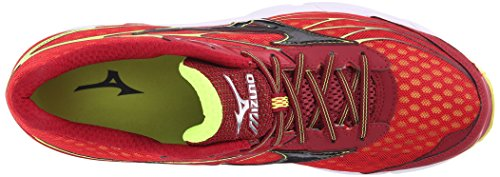 Mizuno Hombre Wave Catalyst Zapatilla de Running Red-Black-Yellow