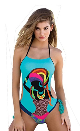 Ailin home- Traje de baño del bikiní de las mujeres Traje de baño total Ropa de playa atractiva de las señoras Verde