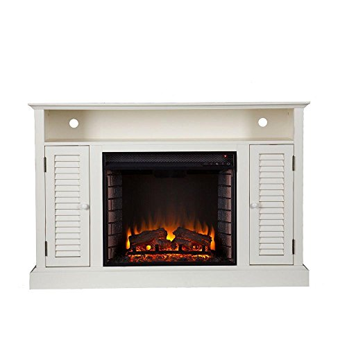 Southern Enterprises Gabriella 48 in. Freestanding Media Electric Fireplace in Antique ()
