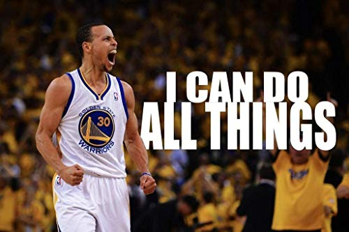 (Stephen Curry Basketball Stars Spun Silk Fabric Cloth Wall Poster Print (36x24inch 90x60cm) by SF)