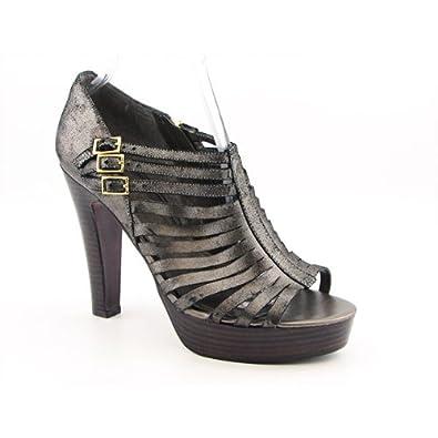 ffe7ccbb6d17 Lauren Ralph Lauren Women s Faith Birdcage Platform Silver Size  4.5 ...