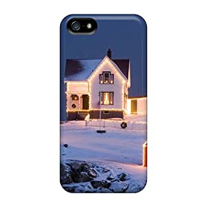 Fashion Protective Chritmas Lighthouse Case Cover For Iphone 5/5s
