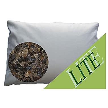Beans72 LITE Organic Buckwheat Pillow - Queen Size (20 x30 )