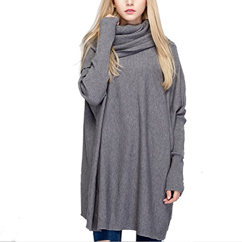 Longues Manches Tricot Loose Casual Femme Pull Semen Pull Manteau Cardigan Gris Sweatshirt Over qg06Z8wS
