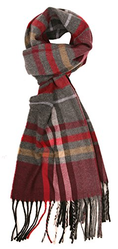 Love Lakeside-Men's Cashmere Feel Winter Plaid Scarf