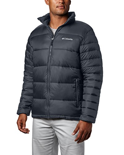 (Columbia Men's Frost Fighter Insulated Warm Puffer Jacket, graphite, L)