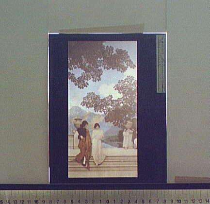 Photo: Garden,opportunity,couples,stairways,Maxfield Parrish,Detroit Publishing Co,1900 - Maxfield Parrish Garden