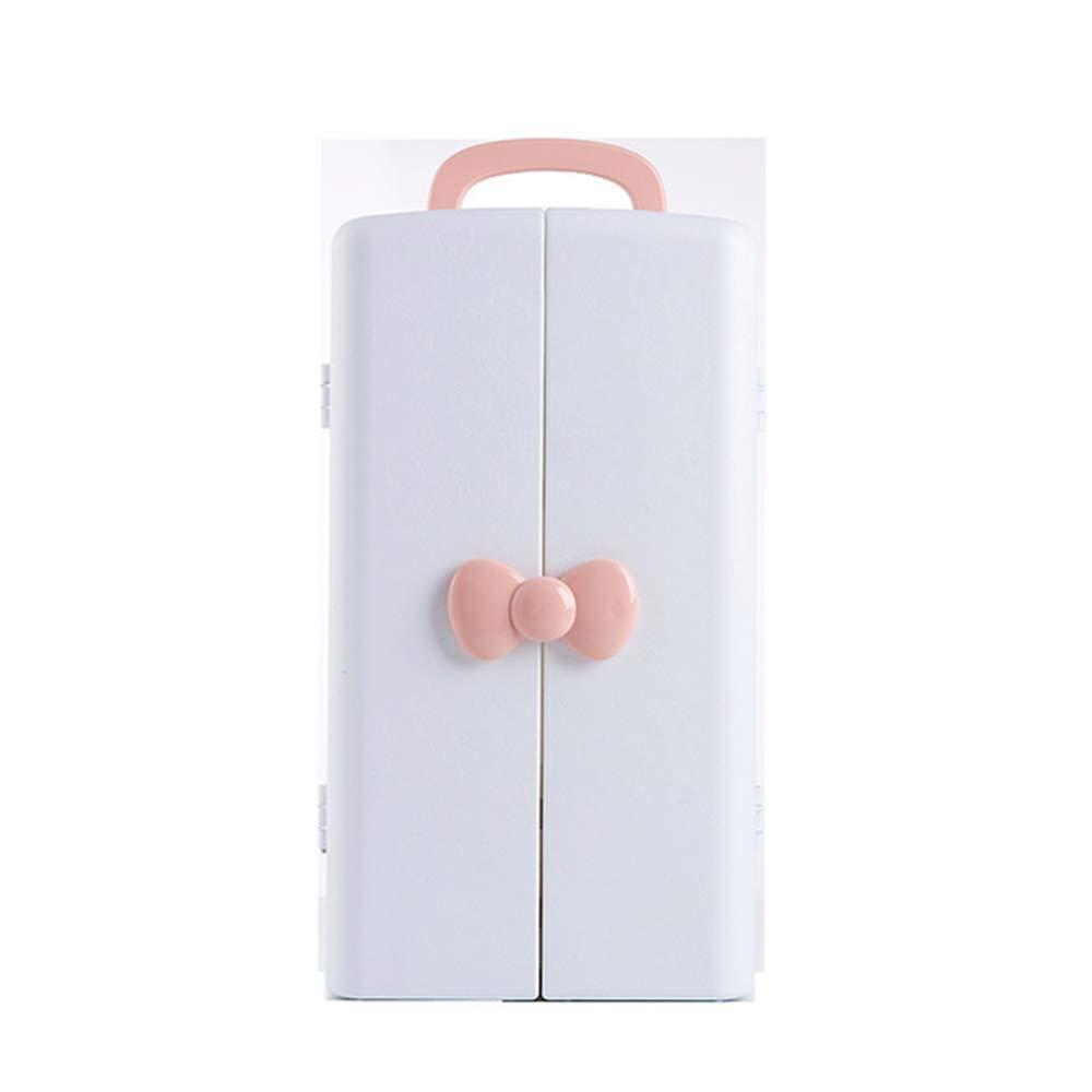 Bycws化粧オーガナイザー、収納ボックス調節可能な化粧品ケース付き大容量ジュエリーディスプレイケース3引き出し,2Pink B07PFVF2S7 2Pink