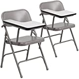 Flash Furniture 2 Pk. Premium Steel Folding Chair with Right Handed Tablet Arm