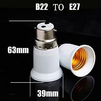 Bases de lampe B22 /à E27 Convertisseur de support de lampe Base Adaptateur de prise dampoule Convertisseur dadaptateur de vis /à LED