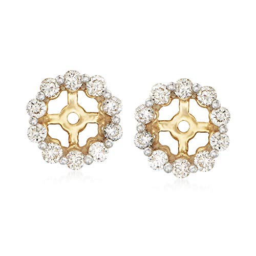 Ross-Simons 0.40 ct. t.w. Diamond Earring Jackets in 14kt Yellow Gold