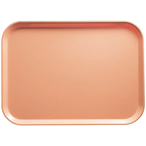 Dark Peach Rectangular Camtray Fiberglass (Cambro 2025117 Camtray 20-3/4