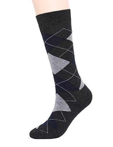 ADFOLF Men's Argyle Patterned Casual Business Long Crew ...  Dress Socks Online