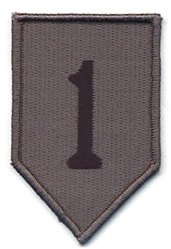 rey Gray Black 1st Infantry Division ID Patch Hook Fastener ()