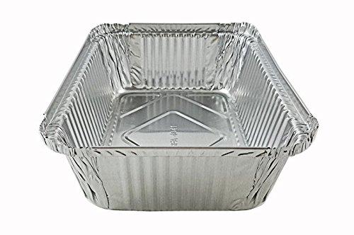 Handi-Foil 5 lb. Oblong Aluminum Entrée Dinner Food Storage Pan w/Board Lid (pack of 125)