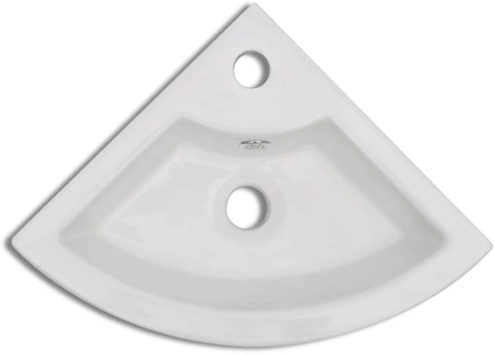 vidaXL Vasque /à Poser Lave Main C/éramique Lavabo Salle de Bain Salle dEau