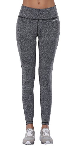 Aenlley Women's Activewear Yoga Pants High Rise Workout Gym Spanx Tights leggings Color Dark Grey Size M