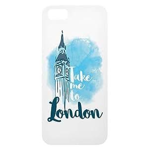 Loud Universe Apple iPhone 5/5s Take me to London Print 3D Wrap Around Back Case - White/Blue