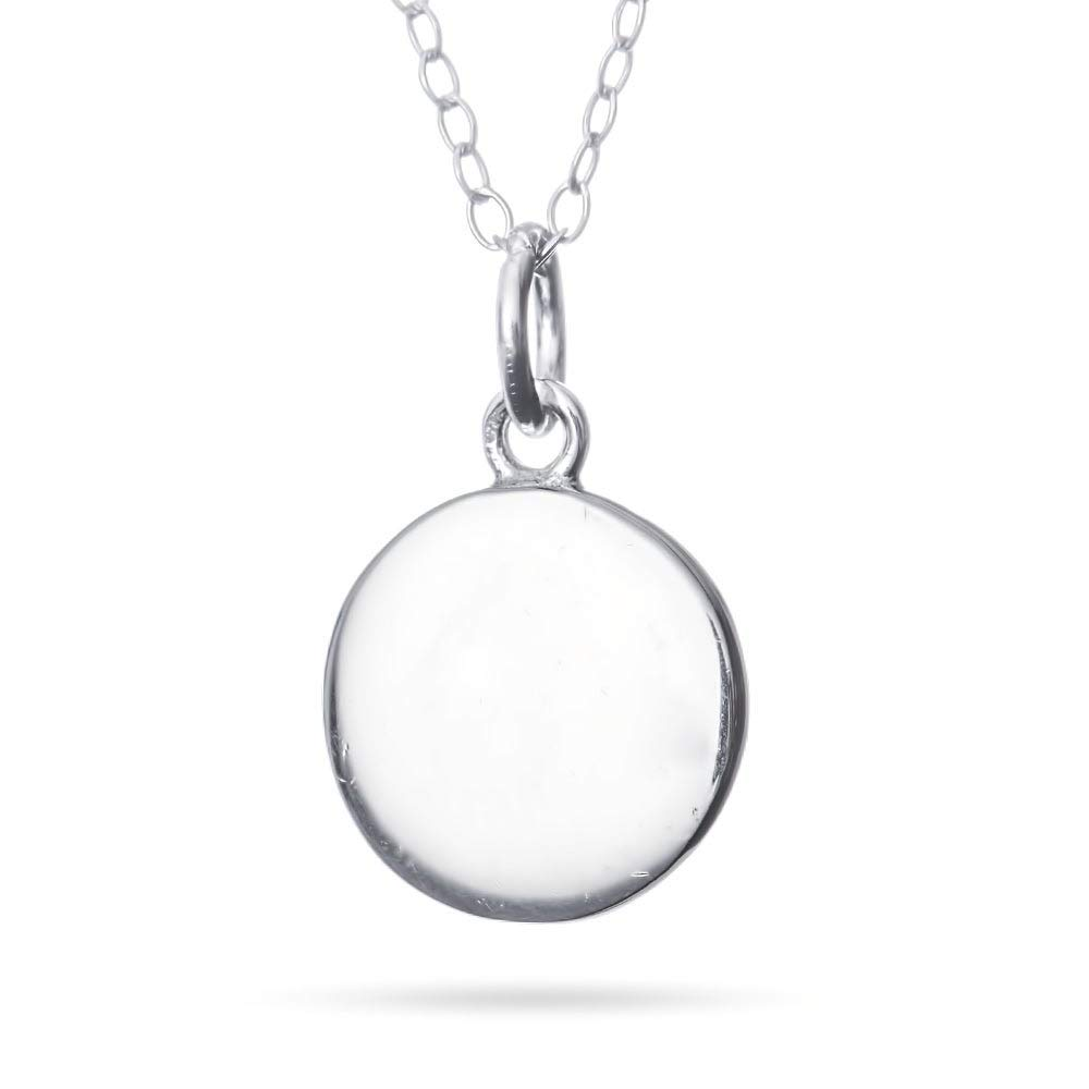 Petite Round Sterling Silver Tag