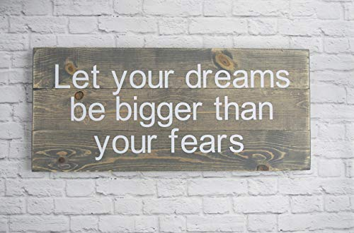 - Popular Wood Sign Sayings - Dreams Wall Home Décor - Rustic Wood Plaque