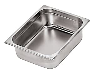 Paderno World Cuisine 7 inches by 4 3/8 inches Stainless-steel Hotel Pan - 1/9 (depth: 2 1/2 inches) by Paderno World Cuisine
