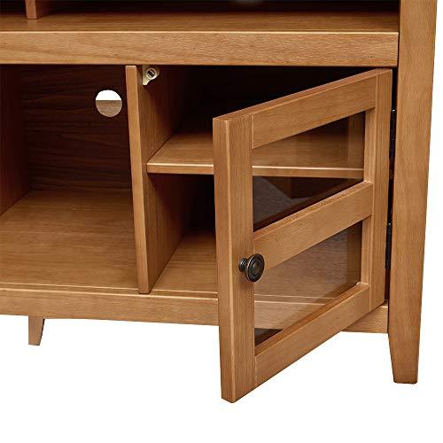 "Amazon Brand – Ravenna Home Classic Solid Wood Media Center, 47.87""W, Rustic Honey Pine"