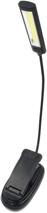 Lixada COB USB Clip Sulla Lettura Libro LED Light Batteria Flessibile Braccio Lampada da Tavolo Scrivania Laptop Torcia a Testa Singola Letto Leggere Luci