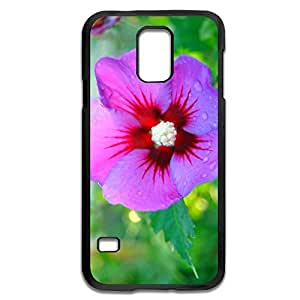 Samsung Galaxy S5 Cases Pink Flower Design Hard Back Cover Shell Desgined By RRG2G