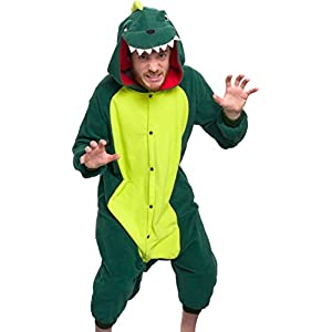 Silver Lilly Unisex Adult Pajamas – Plush One Piece Cosplay Animal Dinosaur Costume