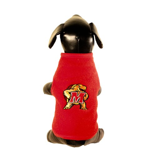 All Star Dogs NCAA Maryland Terrapins Polar Fleece Dog Sweatshirt, (Maryland Terps Ncaa Hoody)