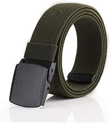 Mens Stretch Elastic Jeans Belt nylon waistband The belt can reach up to 47 inches
