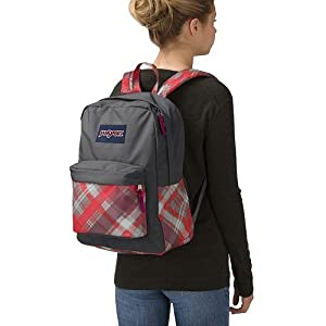 Classic and Fun Design JanSport Superbreak Backpack with Large Main compartment, Adjustable padded shoulder straps Perfect to go back to School (Donuts)