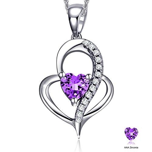 love-is-the-beauty-of-soul-sterling-silver-cubic-zirconia-love-heart-fashion-pendant-necklacepurple