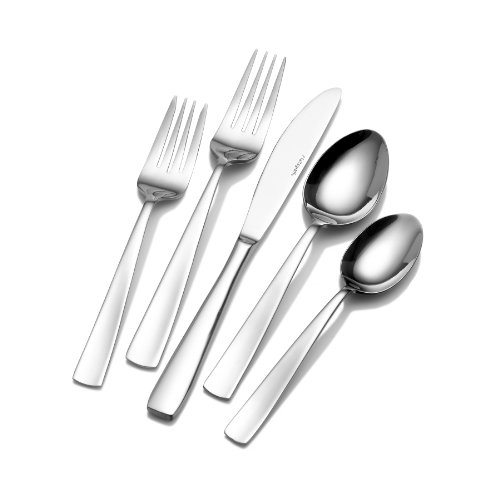 (Pfaltzgraff 5077444 Satin Danford 20-Piece Stainless Steel Flatware Set, Service for 4)
