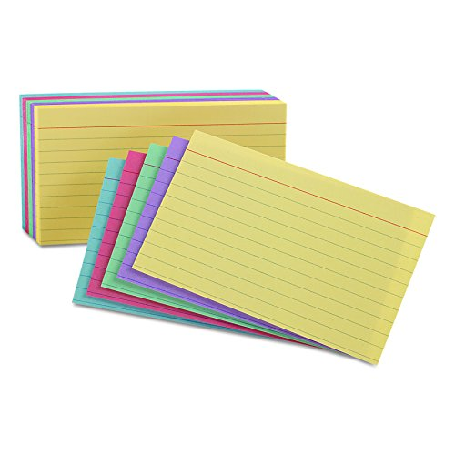 - Oxford Ruled Color Cards, 5