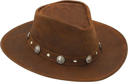 Minnetonka Buffalo Nickel Hat,Brown Ruff Leather,US M