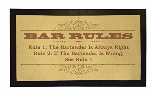 Bang Tidy Clothing Rubber Bar Mat Bar Runner Funny Bar Rules Spill Mat Gift Idea by Bang Tidy Clothing