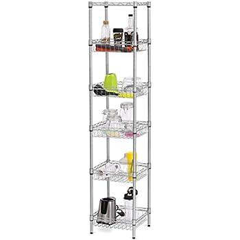 Amazon.com: LANGRIA 6-Tier Bathroom Shelving Supreme Shelving Units ...