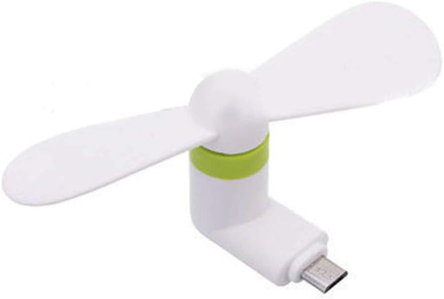 White GrmeisLemc Summer Mini Portable Mute OTG Micro USB Mobile Phone Air Cooling Fan for Android
