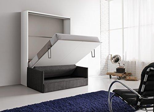 Mobile letto a scomparsa Otto colore bianco, con divano ...