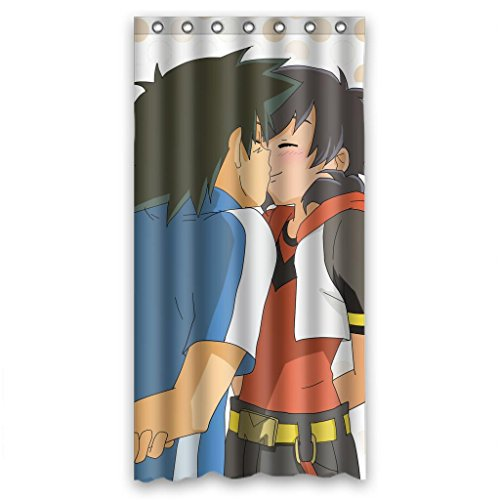 Anime Cartoon Boy Look In The Mirror Shower Curtain Measure 36wx72h