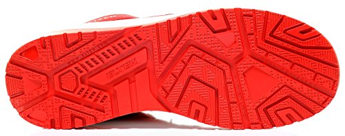 ELTEN Maverick Red Low ESD S3 Herren Sicherheitsschuhe, Arbeitsschuhe, Sicherheitshalbschuh, Zertifiziert Nach En ISO 20345 : S3, Stahlkappe Rot