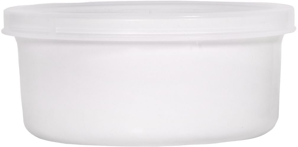 Home Essentials & Beyond Round Ceramic Casserole Baker with Lid Baking Dish Roasting Lasagna Pan 16 Oz White
