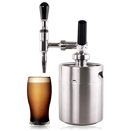 Lamtor Nitro Cold Brew Coffee Maker 64 OZ Mini Stainless Steel Keg Home brew coffee System Kit Best Choice of Diy Coffee Lovers