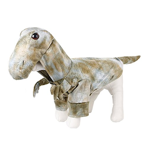 UHeng Funny Pet Dog Cat Dress Up Clothes Christmas Halloween Dinosaur Costumes (Costume Dinosaur Cat)