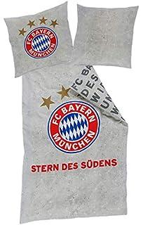 Fc Bayern Bettwäsche Graffiti Grau 135x200cm 80x80cm Amazonde