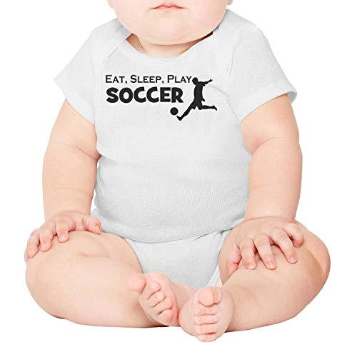Artisfive Eat Sleep Soccer Repeat Unisex Baby Onesies Infant Bodysuit ()