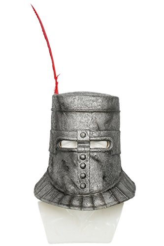 Dark Helmet Costumes (Dark Solaire Helmet Deluxe Latex Mask Cosplay Costume Accessory Xcoser)