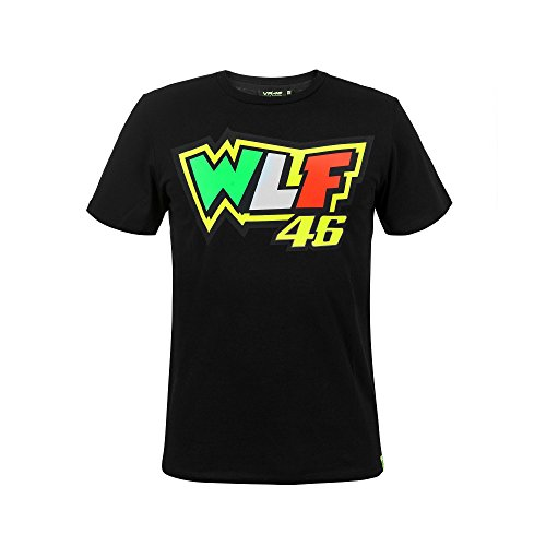 Valentino Rossi VR46 Moto GP Race WLF Black T-Shirt Official 2018