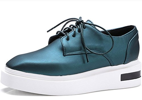 YCMDM Donne Single Leisure Estate Primavera Estate comode scarpe piatte grandi dimensioni scarpe da corte , green , 39